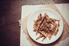 Haricots frits par végétarien Photographie stock libre de droits