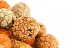 Haricots japonais de bonbons (écrous) avec le manteau coloré de sucre, Photo stock