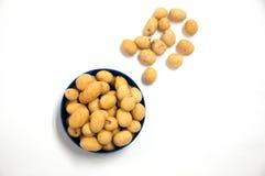 Haricots japonais de bonbons avec le manteau coloré de sucre Image stock