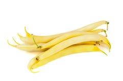Haricots jaunes sur le fond blanc Image libre de droits