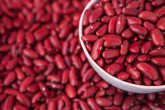 Haricots nains rouges dans une tasse Images libres de droits