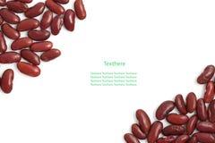 Haricots rouges d'isolement sur le fond blanc Image stock