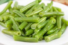 Haricots verts bouillis Photos libres de droits