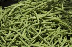 Haricots verts du marché du fermier photographie stock