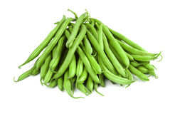 Haricots verts frais Photos libres de droits