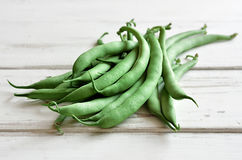 Haricots verts organiques images stock