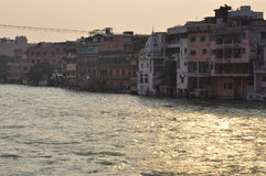 Haridvar, Uttarakhand,印度 恒河 免版税库存照片