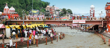 haridwar πανόραμα ganga Στοκ Εικόνες
