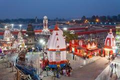 Haridwar dans l'Inde Images libres de droits