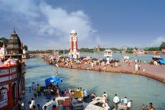 Haridwar - der Kommunikationsrechner zum Königreich der Götter lizenzfreies stockbild