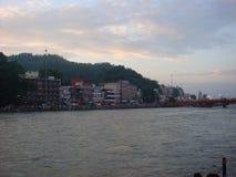 Haridwar en tiempo de la tarde Imágenes de archivo libres de regalías