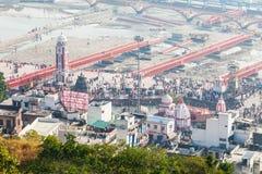 Haridwar i Indien arkivbilder