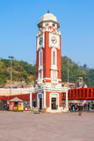 Haridwar in India. Birla Clock Tower at Har Ki Pauri ghat in Haridwar, India stock images