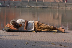 Homeless in India Stock Image