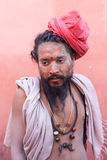 Portrait of  naga sadhu at Kumbh Mela Stock Photos