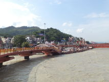 Haridwar. People near the sacred river Ganges in Haridwar, Uttarakhand, India Royalty Free Stock Photography