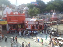 Haridwar. Temple near the sacred river Ganges in Haridwar Royalty Free Stock Image