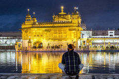 Harimandir Sahib at the Golden temple complex, Amritsar - India Stock Images