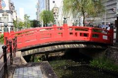 Harimaya桥梁在高知镇,日本 免版税库存照片