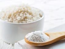 Harina de arroz Foto de archivo libre de regalías
