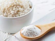 Harina de arroz Imagenes de archivo
