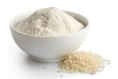 Harina de arroz blanco Imágenes de archivo libres de regalías
