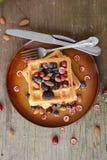 Harina de avena con bluberry y el plátano ilustración del vector