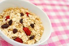 Harina de avena nutritiva para el desayuno Fotografía de archivo libre de regalías