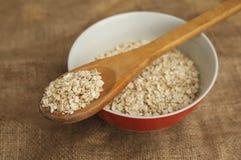 Harina de avena seca Comida sana y dieta Desayuno típico Imágenes de archivo libres de regalías