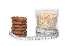 Harina de avena y galletas fotografía de archivo libre de regalías