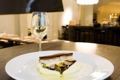 Harina de pescado en el restaurante de lujo Imagen de archivo
