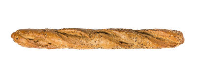 Harina de trigo entero del pan del Baguette Fotos de archivo libres de regalías