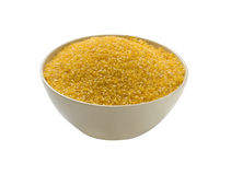 Harina del maíz - el gluten libera, aislado Fotos de archivo libres de regalías