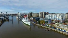 Haringendag in Kaliningrad stock video