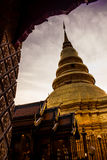Hariphunchai pagoda Obraz Stock