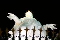 Harissa statue at night Lebanon Stock Photos