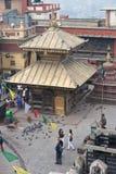 Hariti Tempel in Swayambhunath, Kthmandu, Nepal Lizenzfreies Stockfoto
