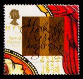 ` Hark `en och psalmboken John Wesley, milleniumserie 11 för häroldängelallsången - serien för kristen`-sagan, circa 1999 royaltyfri foto