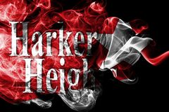 Harker Heights city smoke flag, Texas State, United States Of America royalty free stock image