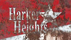 Harker Heights city smoke flag, Texas State, United States Of Am. Erica Stock Photo