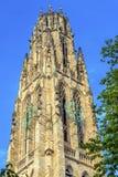 Harkness塔老校园耶鲁大学纽黑文康涅狄格 免版税库存照片