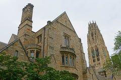 Harkness torn, Yale University, Connecticut, USA Arkivbilder