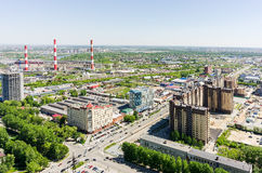Harkovskaya street and power plant. Tyumen. Russia Stock Images