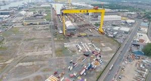 Harland und Wolf Belfast City Co Antrim Nordirland lizenzfreie stockfotografie