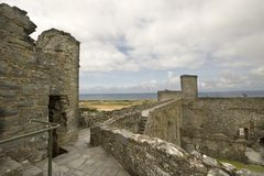Harlech Castle. The ruins of Harlech castle in Wales. This popular tourist attraction is one of the best known ruined castles in Britain. Building was started in Stock Photography