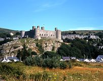 Harlech Castle. Royalty Free Stock Image
