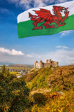 Harlech Castle in Wales, United Kingdom, series of Walesh castles Royalty Free Stock Images