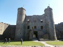 Harlech slott fotografering för bildbyråer