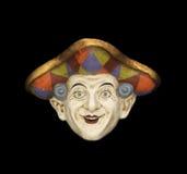 Harlekijn Venetiaans Masker Stock Foto