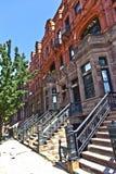 Harlem-Bezirk und sein typisches Haus Stockbilder
